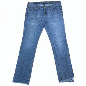 Gap Womens 14 Premium Skinny Boot Cut Raw Custom L